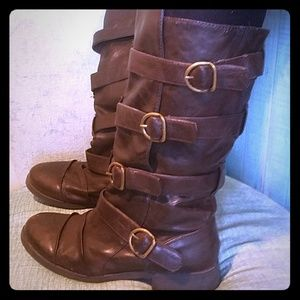 Decree Brown Leather Boots